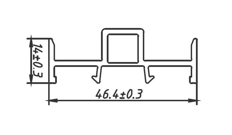 Upvc Profile Drawing : Upvc profile drawings okotech lead free profiles
